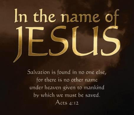 Jesus In the Name of Jesus