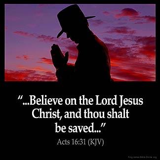 Believe on Jesus