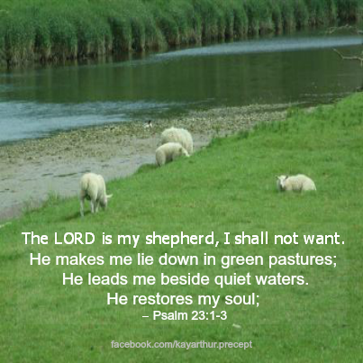 Praying the 23rd psalm sabang church of christ disciples