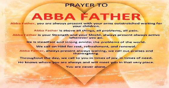 Abba Prayer to Father God